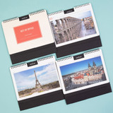 Ardium 2021 Europe travel monthly desk calendar