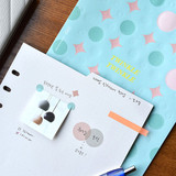 Usage example - Play Obje Twinkle 6-ring translucent sticker sheet set