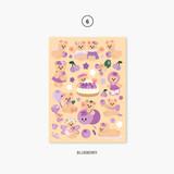 06 blueberry - Project fruit my juicy bear removable sticker