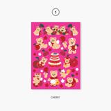 01 cherry - Project fruit my juicy bear removable sticker