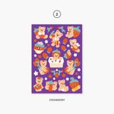 02 Strawberry - Project fruit my juicy bear removable sticker