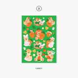 03 carrot - Project fruit my juicy bear removable sticker