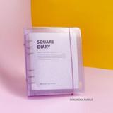 04 Aurora purple - Jam Studio Square 6-ring A6 wide dateless monthly planner