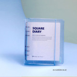 05 Aurora blue - Jam Studio Square 6-ring A6 wide dateless monthly planner