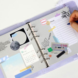 Check pattern - Jam Studio Square 6-ring A6 wide dateless monthly planner
