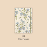 Flax flower - Paperian Florence large undated daily diary journal