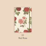 Red rose - Paperian Florence large undated daily diary journal