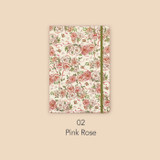 Pink rose - Paperian Florence large undated daily diary journal