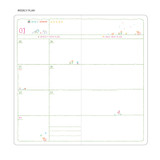Weekly plan - MINIBUS 2021 Zoo pocket illustration dated weekly diary scheduler