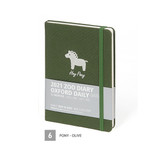 06 Pony - Olive - MINIBUS 2021 Zoo oxford dated daily diary scheduler