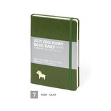 07 Pony - Olive  - MINIBUS 2021 Zoo basic dated daily diary scheduler