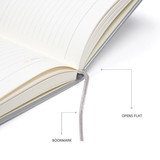 Ribbon bookmark, Opens flat - MINIBUS 2021 Zoo basic dated daily diary scheduler