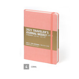 Coral - MINIBUS 2021 Traveler's dated weekly diary journal
