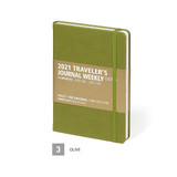 Olive - MINIBUS 2021 Traveler's dated weekly diary journal
