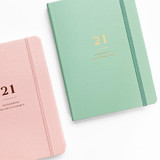 Elastic band - O-check 2021 Mon journal A5 dated weekly agenda planner