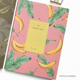 Tropical Banana - O-check 2021 Les beaux jours dated weekly diary planner