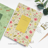 Flower garden - O-check 2021 Les beaux jours dated weekly diary planner