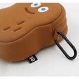With a key clip - ROMANE Brunch brother big compact zipper pouch with key clip
