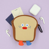Toast - ROMANE Brunch brother big compact zipper pouch with key clip