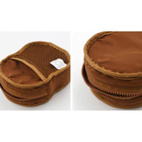 Inner pocket - ROMANE Brunch brother big compact zipper pouch with key clip