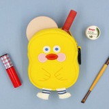 Duck - ROMANE Brunch brother big compact zipper pouch with key clip