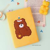 Yellow monggeul bear - Wanna This Tailorbird dateless weekly diary planner ver6