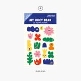 Huwa Huwa - Project retro label my juicy bear removable sticker