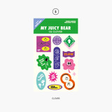 Clover - Project retro label my juicy bear removable sticker