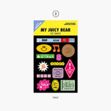 Smile - Project retro label my juicy bear removable sticker