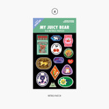Retro Patch - Project retro label my juicy bear removable sticker