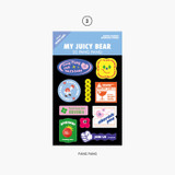 Pang Pang - Project retro label my juicy bear removable sticker