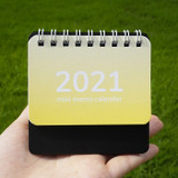 Small size - N.IVY 2021 Mini memo standing monthly desk calendar