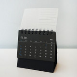 Wire binding - N.IVY 2021 Mood black small standing monthly desk calendar