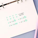 Wanna This Pastel Korean Alphabet sticker