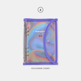 04 Hologram Cherry - Second Mansion Retro 6-ring A5 undated weekly planner