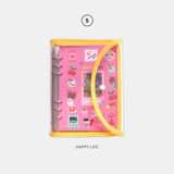 05 Happy Life - Second Mansion Retro 6-ring A5 undated weekly planner
