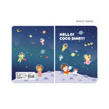 Space travel - Ardium 2021 Hello coco dated monthly diary planner