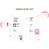 Weekly plan - Second Mansion Retro 6-ring A6 undated weekly planner