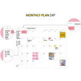Monthly plan - Second Mansion Retro 6-ring A6 undated weekly planner