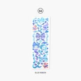 Blue ribbon - Second Mansion Hologram confetti removable sticker seal 01-06
