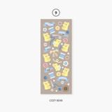09 Cozy Bear - Second Mansion Hologram confetti removable sticker seal 07-18