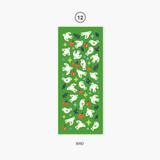 12 Bird - Second Mansion Hologram confetti removable sticker seal 07-18