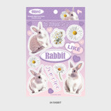 04 Rabbit - Wanna This Object removable deco sticker