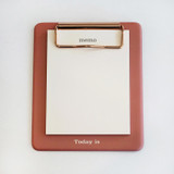 Front - N.IVY Today is small red clipboard holder with a notepad