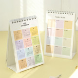 PAPERIAN 2021 Color plan dated monthly desk calendar