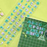 Second Mansion Hightteen Alphabet removable sticker seal