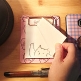 N.IVY Lovely kitty clipboard holder with sticky notepad