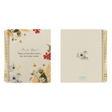 2021 Floral natural spiral dated weekly planner