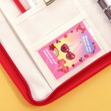 PVC pocket - Second Mansion Cherry me A5 6-ring dateless weekly diary