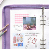 Grid note - Second Mansion Cherry me A5 6-ring dateless weekly diary